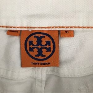 Tory Burch Jeans - Tory Burch | White Jeans Skinny Logo Pocket 31